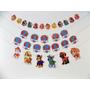 Kit Cumpleaños Paw Patrol (guirnaldas + Toppers Cupcakes)