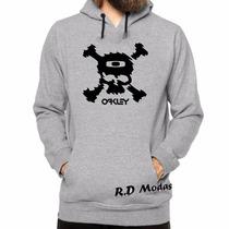 Blusa Moletom Canguru Oakley Caveira - Mega Promoção!