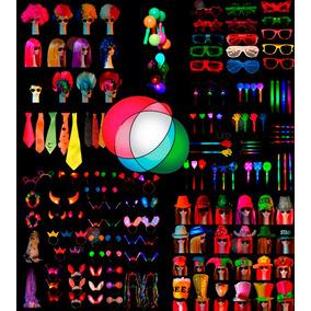 Cotillon Luminoso Combo Led 100/120 Personas Pack Fiesta