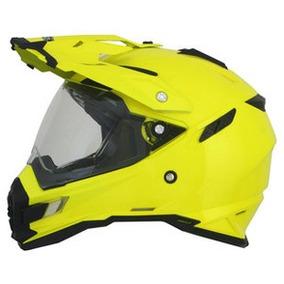 Casco Para Moto Doble Propósito Con Lentes Afx Bmw Amarillo