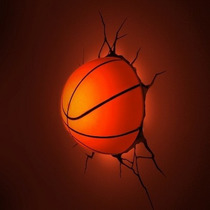 Lamparas Para Pared 3d Pelotas De Baskeball Led Relieve