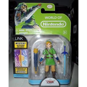 Mundo De Nintendo Zelda Figura De Link Y Accesorio Escondido