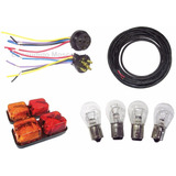 Kit Instalación Eléctrica Trailer Faros + Ficha + Cable 5x1