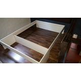 Cama Box Somier Para Colchón De190 X 140 Con Baul Frontal
