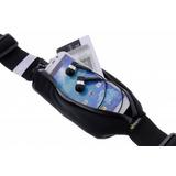 Bolsa Elástica P/ Cintura Impermeável Preta - Celular Chaves