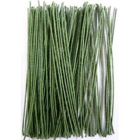 1.000 Pedaços De Arame Encapados Verde Nº 26 - Frete Grátis