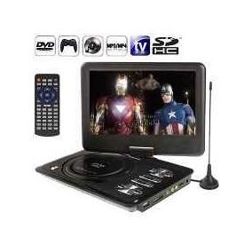 Dvd Player Portatil Grande Com Tela Hd De 11,5 Com Tv, Usb,