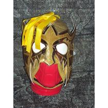 Wwe Mascara De Luchador Escorpion Dorado Semiprofesional