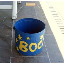 Boca Reciclado De Valde Metalico Pintado