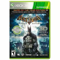 Batman Arkham Asylum Xbox 360 Novo Mídia Física + Brinde
