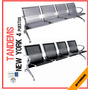 Tandems Silla New York 4 Puestos Mobiliario Torino Metalicos