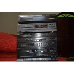 Som Sony Antigo Com Toca Disco Vinil E Cd
