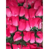 5 Docenas Rosas Artificiales Tela Flores San Valentín