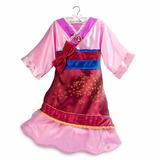 Fantasia Vestido Mulan Disney Store Oficial Tam 9/10 Anos
