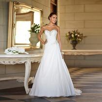 Vestido De Noiva Civil Igreja Importado Sob Confecção