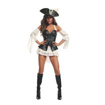 De La Mujer Starline Pirata Negro Perla Sexy Costume Set
