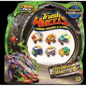 Trash Wheels Trash Pack Com 6 Carrinhos Metaloucos Dtc