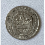 Moeda Panamá 1/10 De Balboa 1961 Prata Km#24