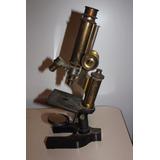 Antiguo Microscopio De Bronce Bausch & Lomb