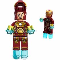 Iron Man Homem Ferro Minifigures Lego Compatível Minifiguras