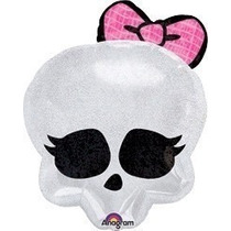 Balão Metalizado Monster High Caveira Kit/50 + Frete Grátis