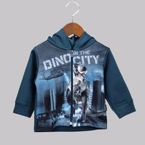 Conjunto Para Meninos Molt - Dino City Da Kyly - Azul