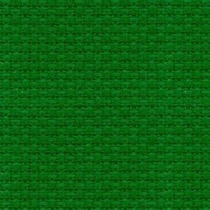 Tela Aida 14 Cuadrille Verde 100% Algodón Punto De Cruz