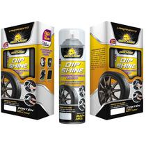 Tinta Spray Para Roda Preto Fosco Emborrachada Dipshine