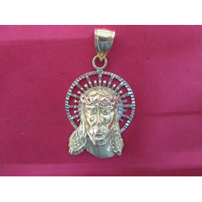 Dije Rostro Jesus Oro De 14 Kilates.