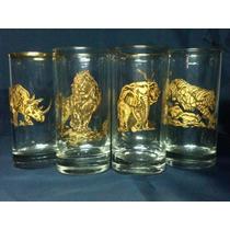 Taxidermia Vasos De Lujo Filo De Oro De Colección