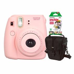 Câmera Fujifilm Instax Mini 8 Rosa C/ Estojo C/ 10 Fotos