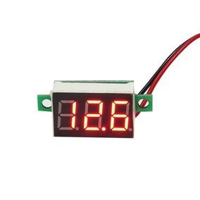 Mini Voltímetro Digital 12v Bateria Som Fonte Automotiva 30v