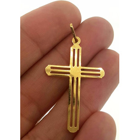 Pingente Cruz Ouro 18k - 0.90 Gramas Decolar Joias