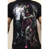 Kit 6 Camiseta Camisa Ogabel Swag Caveira Motoqueiro Rock