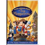 Dvd Mickey Donald Pateta - Os Três Mosqueteiros - Lacrado