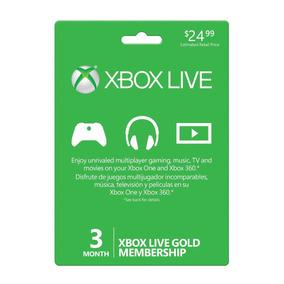 Xbox Live Gold 3 Meses Xbox One/xbox 360(mundial)