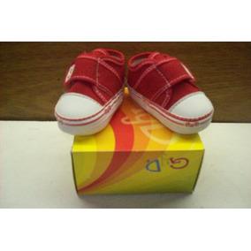 Zapatillas D Bebe En Jean Rojo Para Bebes Menos De 1 Año