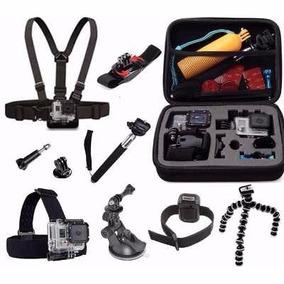 Kit Aventura Gopro Hero Acessórios Para Go Pro 2 3 3+ 4 5 Hd