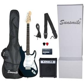 Paquete Kit Guitarra Electrica Sunsmile Js30 Spb 10