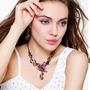 Set Regalo Collar Y Aretes Mariposa Color Bronce Bisuteria