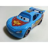 Disney Cars 2 Lightning Mcqueen Azul Wgp Mattel Loose