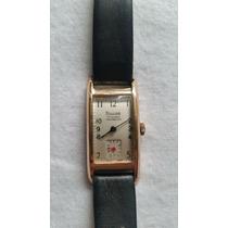 Reloj Silvana Enchapado De Oro Incabloc 17 Rubis Segundero