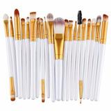 Kit Com 20 Pincéis De Maquiagem Profissionais Muito Barato