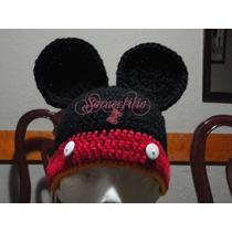 Gorritos Tejidos Mickey Mouse, Minnie Mouse, Niños, Niñas