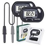 Termómetro Del Acuario, Risepro 2 Pack Termómetro Digital D