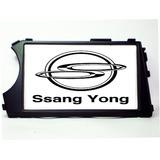 Moldura 2 Din Ssang Yong Actyon Kyron Preta Fosca + Plug Som