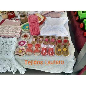 Sandalias Tejidas Crochet Bebas