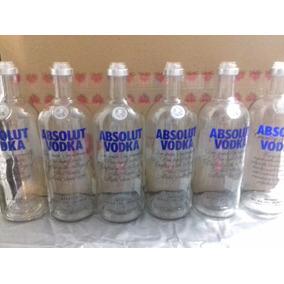 Garrafas Vodka Absolut Vazia Sem Tampa Com Dosador