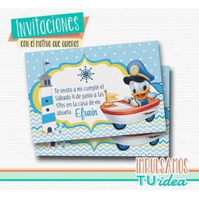 Pato Donald Bebé - Invitación Donald Bebé Para Imprimir