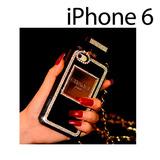 Funda Chanel Iphone 6 Con Pedrería Elegante Negro